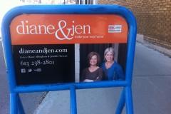 Diane & Jen street sign